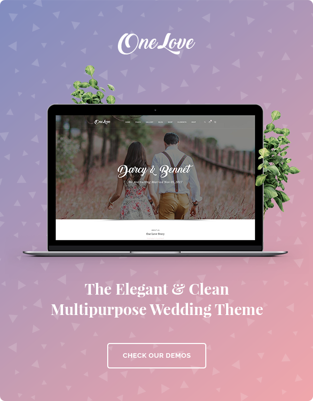 OneLove - The Elegant & Clean Wedding Multipurpose WordPress Theme