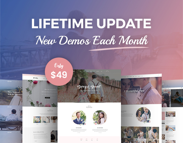 LifeTime Update & New Home Each Month - OneLove Wedding Theme