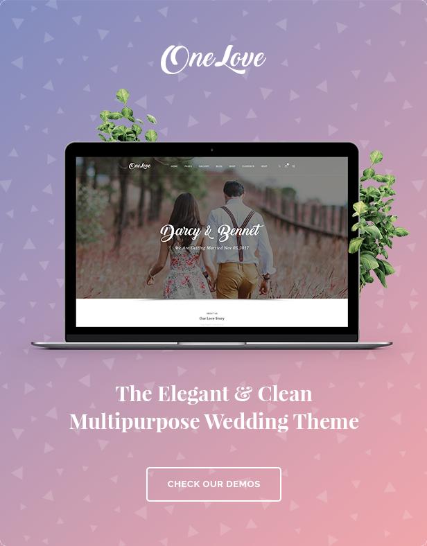 OneLove - The Elegant & Clean Wedding Multipurpose WordPress Theme